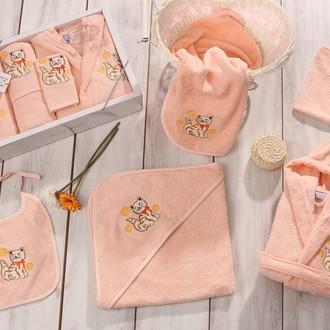 Набор для купания новорожденных Karna BABY CLUP абрикосовый
