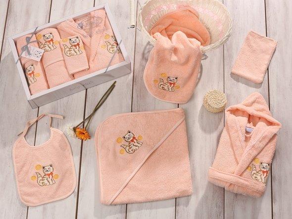 Набор для купания новорожденных Karna BABY CLUP абрикосовый, фото, фотография