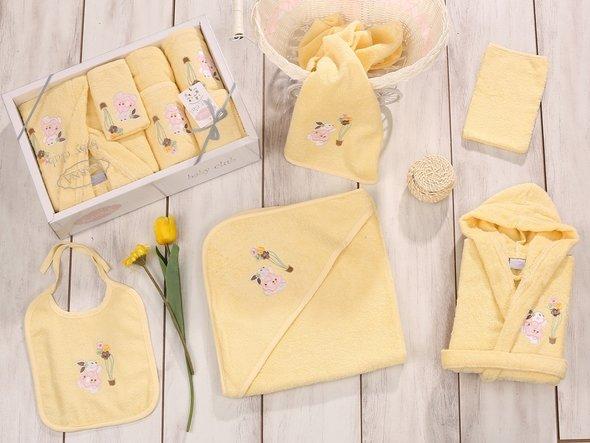 Набор для купания новорожденных Karna BABY CLUP жёлтый, фото, фотография