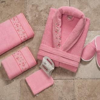 Набор махровый Nurpak PITIRCIK розовый