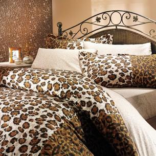 Постельное белье Hobby Home Collection ADRIANA хлопковый поплин коричневый 2-х спальный