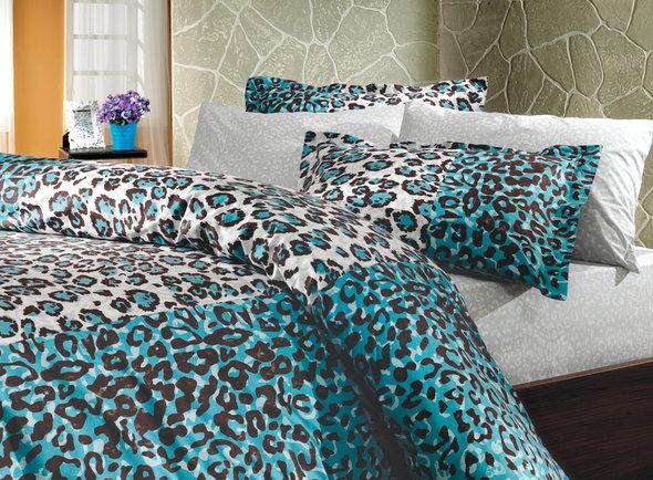 Комплект постельного белья Hobby ADRIANA синий 2-х спальный, фото, фотография