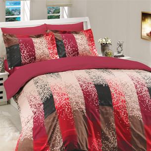 Постельное белье Hobby Home Collection ALANDRA хлопковый поплин бордовый евро