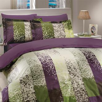 Комплект постельного белья Hobby Home Collection ALANDRA хлопковый поплин (фиолетовый)