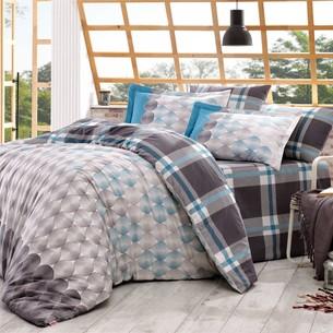 Постельное белье Hobby Home Collection BELEN хлопковый поплин серый 2-х спальный