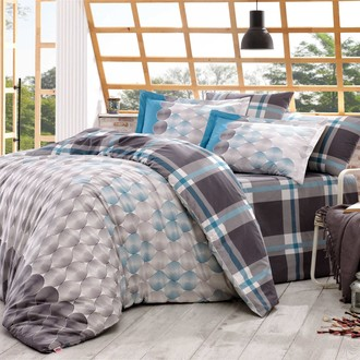 Комплект постельного белья Hobby Home Collection BELEN хлопковый поплин (серый)