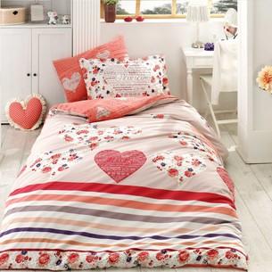 Постельное белье Hobby Home Collection BELLA хлопковый поплин красный 1,5 спальный