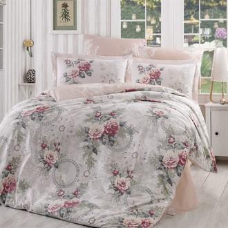 Комплект постельного белья Hobby Home Collection CLEMENTINA хлопковый поплин (светло-розовый)