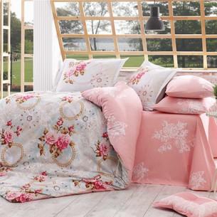 Постельное белье Hobby Home Collection CLEMENTINA хлопковый поплин розовый 1,5 спальный