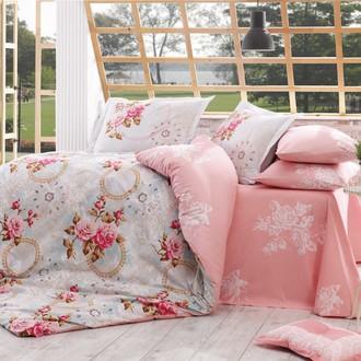 Комплект постельного белья Hobby Home Collection CLEMENTINA хлопковый поплин (розовый)