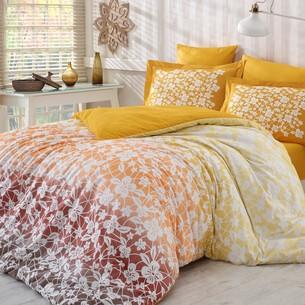 Постельное белье Hobby Home Collection MIRA хлопковый поплин горчичный 2-х спальный