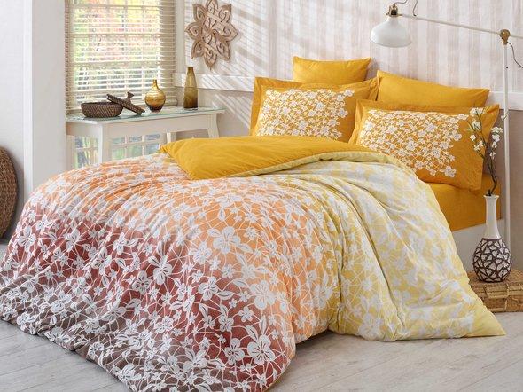 Комплект постельного белья Hobby MIRA горчичный 2-х спальный, фото, фотография