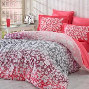 Постельное белье Hobby Home Collection MIRA хлопковый поплин красный 2-х спальный