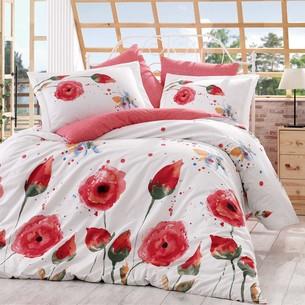 Постельное белье Hobby Home Collection VERONIKA хлопковый поплин красный 1,5 спальный