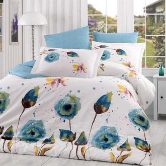 Комплект постельного белья Hobby Home Collection VERONIKA хлопковый поплин (бирюзовый)
