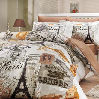 Комплект постельного белья Hobby Home Collection VICENTA хлопковый поплин (кремовый)