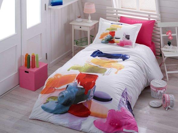 Комплект детского постельного белья Hobby Home Collection RAINBOW хлопковый поплин 1,5 спальный, фото, фотография