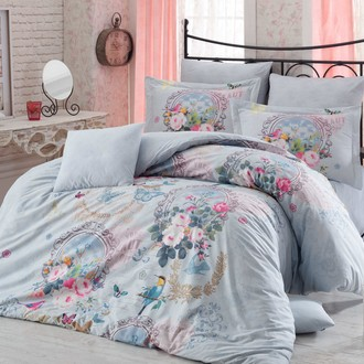Комплект постельного белья Hobby SEREFINA бирюзовый