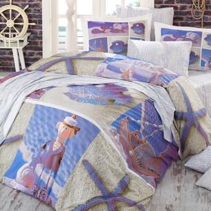 Постельное белье Hobby Home Collection OCEAN хлопковый поплин евро