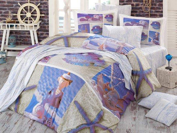 Комплект постельного белья Hobby OCEAN евро, фото, фотография