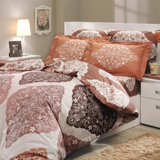 Постельное белье Hobby Home Collection AMANDA хлопковый поплин (коричневый)