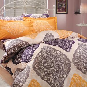 Постельное белье Hobby Home Collection AMANDA хлопковый поплин фиолетовый 2-х спальный