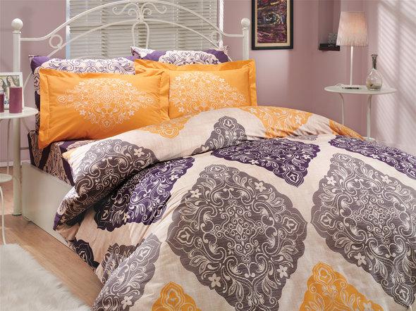 Постельное белье Hobby Home Collection AMANDA хлопковый поплин фиолетовый 1,5 спальный, фото, фотография