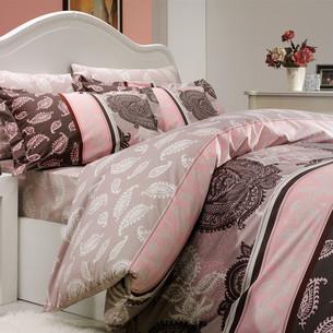 Постельное белье Hobby Home Collection ARELLA хлопковый поплин пудра 1,5 спальный
