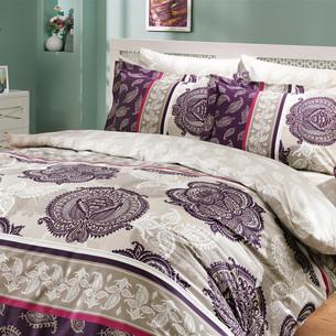Постельное белье Hobby Home Collection ARELLA хлопковый поплин фиолетовый 1,5 спальный