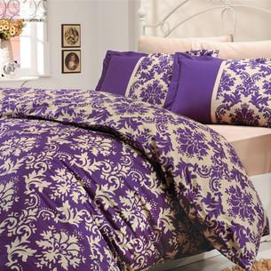 Постельное белье Hobby Home Collection AVANGARDE хлопковый поплин фиолетовый 1,5 спальный