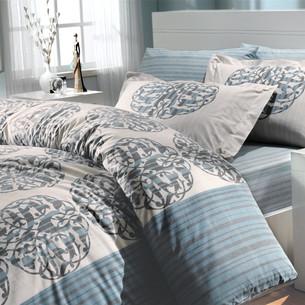 Постельное белье Hobby Home Collection BELINDA хлопковый поплин бирюзовый 1,5 спальный