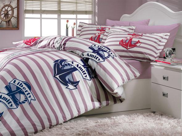 Комплект постельного белья Hobby BERMUDA поплин лиловый 2-х спальный, фото, фотография