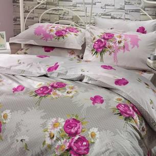 Постельное белье Hobby Home Collection CALVINA хлопковый поплин светло-серый 2-х спальный