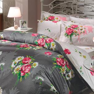 Постельное белье Hobby Home Collection CALVINA хлопковый поплин серый 1,5 спальный