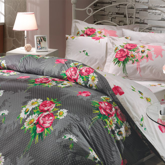 Комплект постельного белья Hobby CALVINA поплин серый