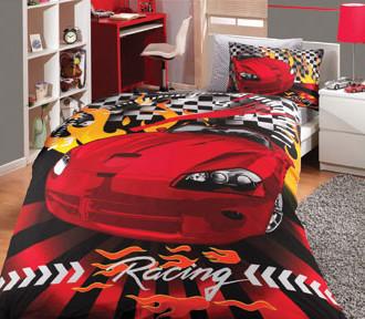 Комплект постельного белья Hobby CAR RACING поплин красный
