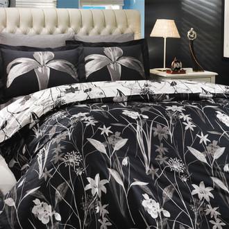 Комплект постельного белья Hobby CLARINDA поплин чёрный
