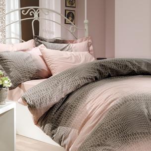 Постельное белье Hobby Home Collection ESTELA хлопковый поплин пудра 1,5 спальный