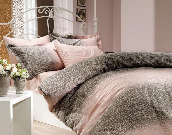 Комплект постельного белья Hobby ESTELA поплин пудра 1,5 спальный, фото, фотография
