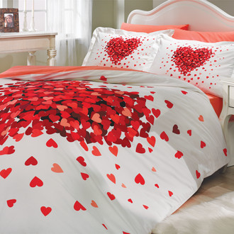 Комплект постельного белья Hobby Home Collection JUANA хлопковый поплин (красный)