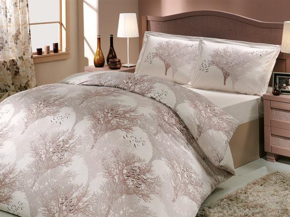 Комплект постельного белья Hobby JUILLET поплин кремовый евро, фото, фотография