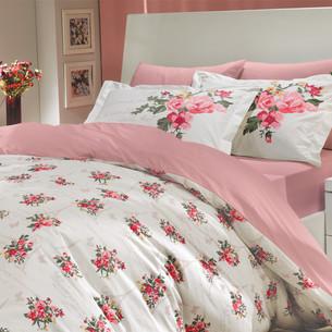 Постельное белье Hobby Home Collection PARIS SPRING хлопковый поплин розовый 1,5 спальный