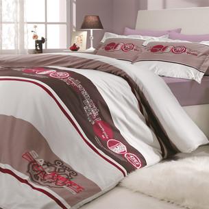 Постельное белье Hobby Home Collection ROTA хлопковый поплин бордовый 2-х спальный