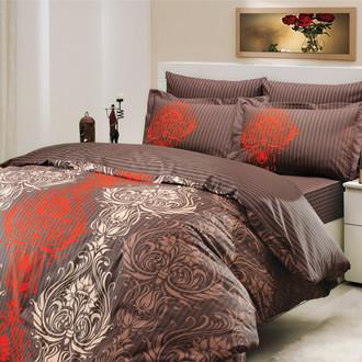 Комплект постельного белья Hobby ROYAL поплин коричневый