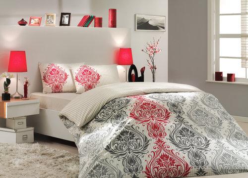 Постельное белье Hobby Home Collection ROYAL хлопковый поплин кремовый 1,5 спальный, фото, фотография