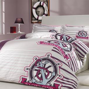 Постельное белье Hobby Home Collection SARANDA хлопковый поплин лиловый 2-х спальный
