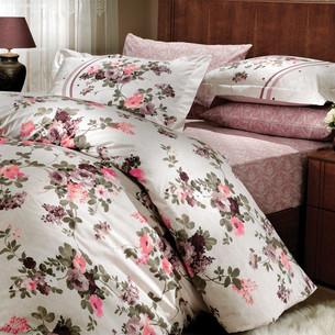 Постельное белье Hobby Home Collection SUSANA хлопковый поплин коричневый 1,5 спальный