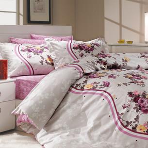 Постельное белье Hobby Home Collection SUSANA хлопковый поплин лиловый 2-х спальный