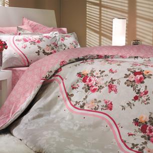 Постельное белье Hobby Home Collection SUSANA хлопковый поплин розовый 2-х спальный