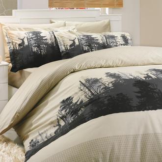 Комплект постельного белья Hobby Home Collection TIERRA хлопковый поплин (бежевый)